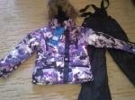Зимний комбинезон Scorpian фиолетовые цветы. Размеры 92, 98, 104. Цена 4000 р.
